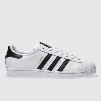 adidas White & Black Superstar Mens Trainers