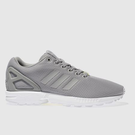 mens light grey adidas zx flux weave trainers schuh. Black Bedroom Furniture Sets. Home Design Ideas