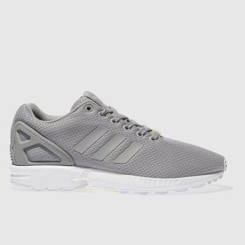 e76b6ac200a2a mens light grey adidas zx flux weave trainers