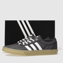 adidas skateboarding black & white adi-ease trainers