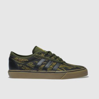 c51e68a1f4d89 Adidas Skateboarding Black   Green Adi-Ease Mens Trainers