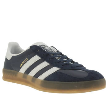 san francisco d8287 b5917 ADIDAS NAVY  WHITE GAZELLE INDOOR TRAINERS