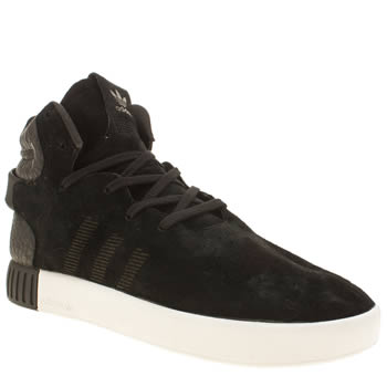 ADIDAS BLACK TUBULAR INVADER TRAINERS