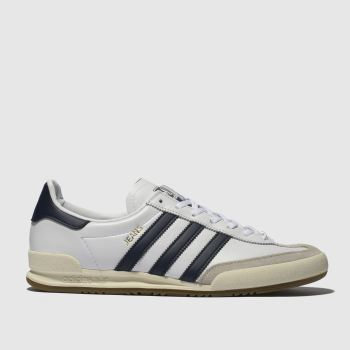 Adidas White & Navy Jeans Mens Trainers