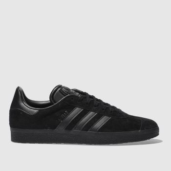 Adidas Black Gazelle Mens Trainers#