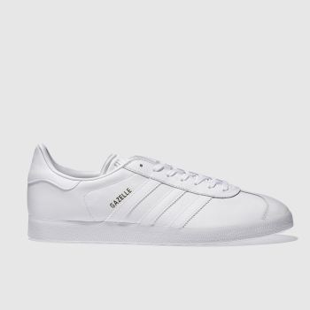separation shoes 4a6e5 63996 Adidas White Gazelle Mens Trainers