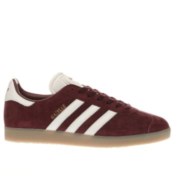 ADIDAS BURGUNDY GAZELLE TRAINERS