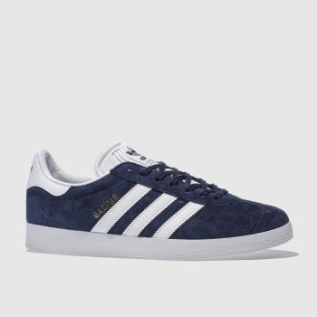 adidas Navy & White Gazelle Mens Trainers#