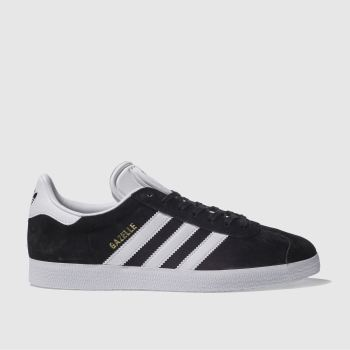 Adidas Black & White Gazelle c2namevalue::Mens Trainers