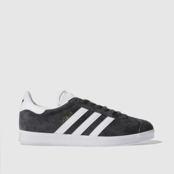 302483e040fef Adidas Dark Grey Gazelle Mens Trainers