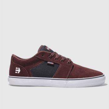 Etnies Burgundy Barge Ls Mens Trainers