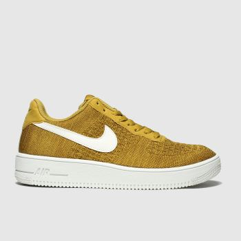 nike orange air force 1 flyknit 2.0 trainers