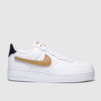 Nike White & Black Air Force 1 07 Lv8 Mens Trainers