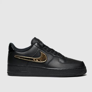 Nike Black Air Force 1 07 Lv8 Trainers