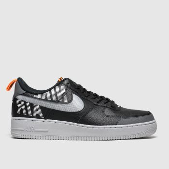 Nike Black & Grey Air Force 1 07 Lv8 Mens Trainers