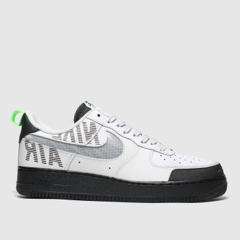 Nike Grey & Black Air Force 1 07 Lv8 Mens Trainers