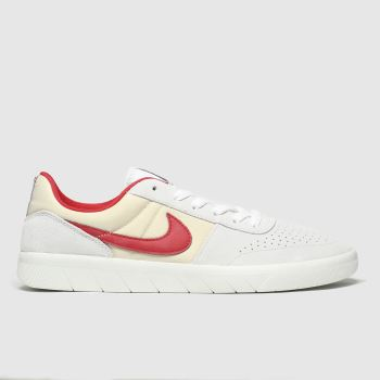 Nike Sb White & Red Team Classic Mens Trainers