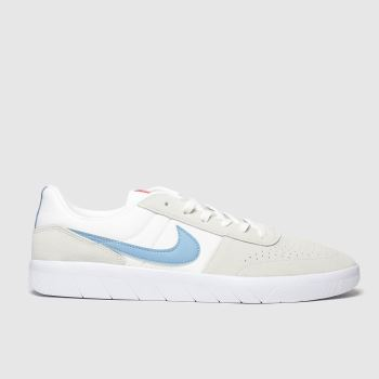 Nike SB White & Pl Blue Team Classic Trainers