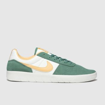 Nike Sb White & Green Team Classic Mens Trainers