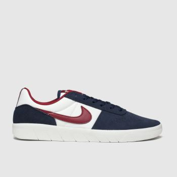 Nike Sb Navy & Red Team Classic Trainers
