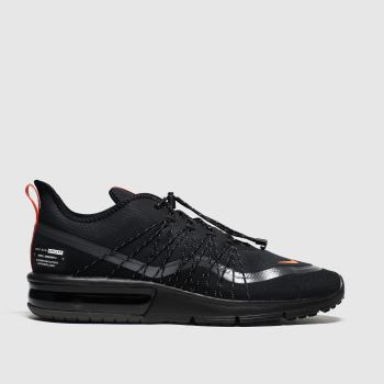 Nike Black & Orange Air Max Sequent 4 Shield Trainers