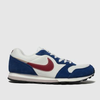 Nike White & Navy Md Runner 2 Mens Trainers
