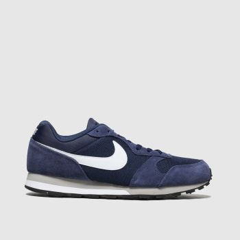 Nike Navy & White Md Runner 2 Trainers