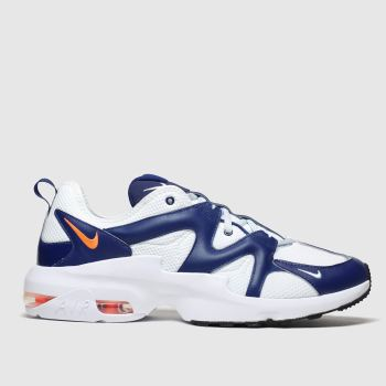 Nike White & Navy Air Max Graviton Mens Trainers