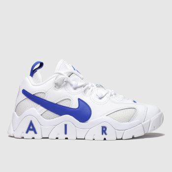 Nike White & Navy Air Barrage Low Trainers