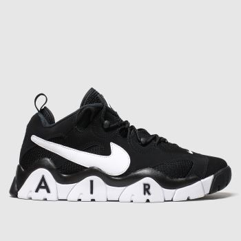 Nike Black & White Air Barrage Low Mens Trainers#
