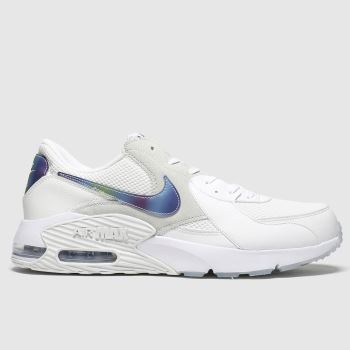 Nike White & Purple Air Max Excee c2namevalue::Mens Trainers