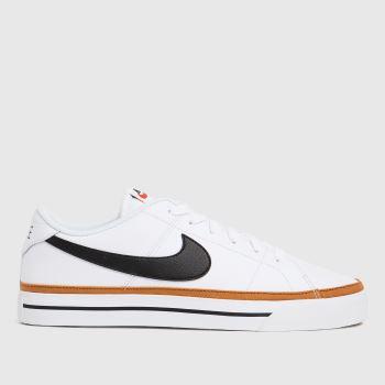 Nike White & Brown Court Legacy Mens Trainers