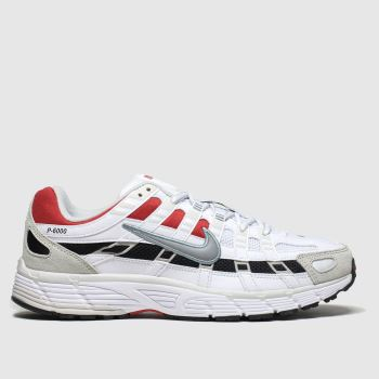 Nike White & Red P-6000 c2namevalue::Mens Trainers