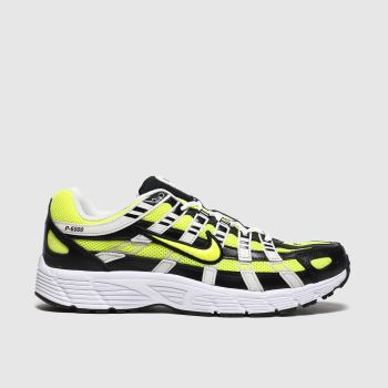 Nike White & Yellow P-6000 Mens Trainers