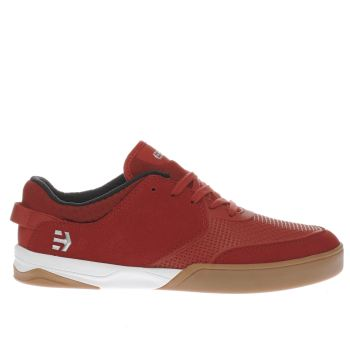 ETNIES RED HELIX TRAINERS
