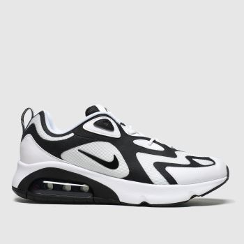 Nike White & Black Air Max 200 Mens Trainers