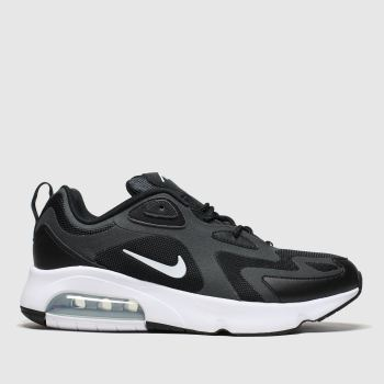Nike Black & White Air Max 200 Mens Trainers