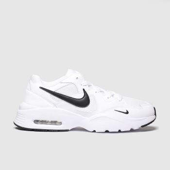 Nike White & Black Air Max Fusion c2namevalue::Mens Trainers