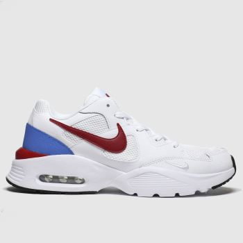 Nike White & Red Air Max Fusion Mens Trainers