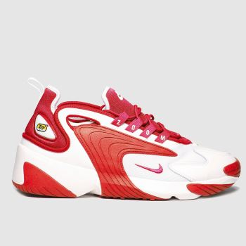 Nike White & Red Zoom 2k c2namevalue::Mens Trainers