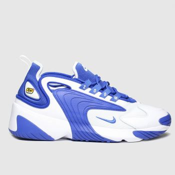 Nike White & Blue Zoom 2k Mens Trainers#