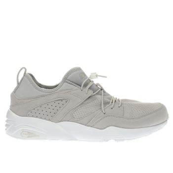 PUMA LIGHT GREY BLAZE OF GLORY SOFT TRAINERS