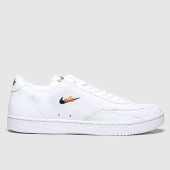 Nike White & Orange Court Vintage Premium Mens Trainers#