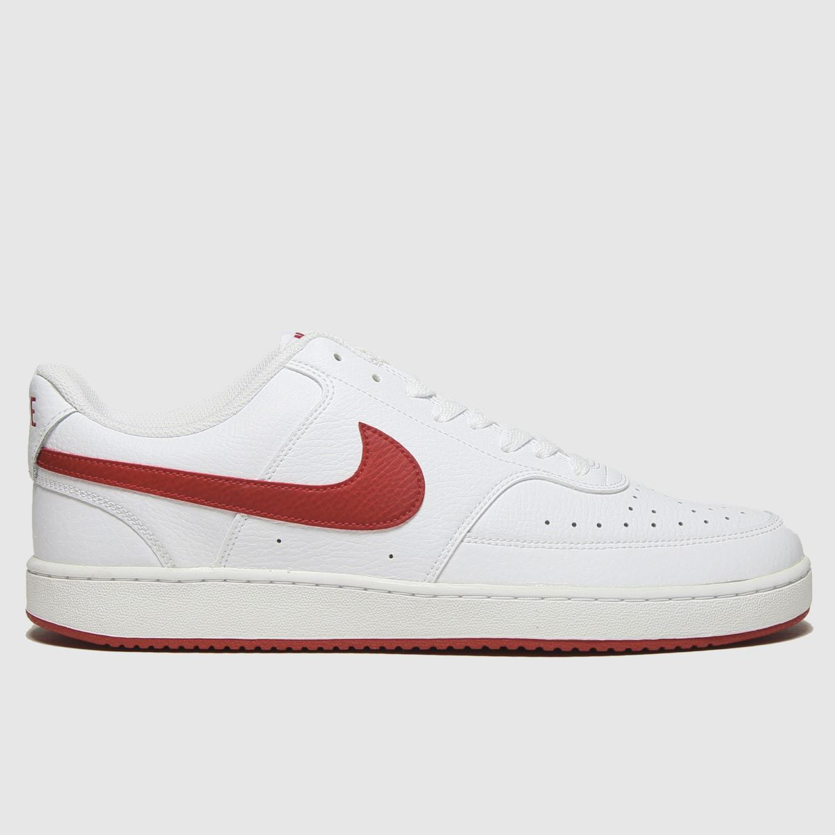 Nike White & Red Court Vision Low Trainers