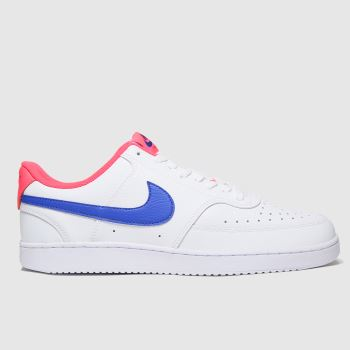 Nike White & Navy Court Vision Low Mens Trainers