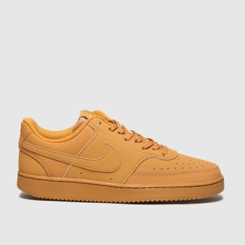 Nike Tan Court Vision Low Mens Trainers