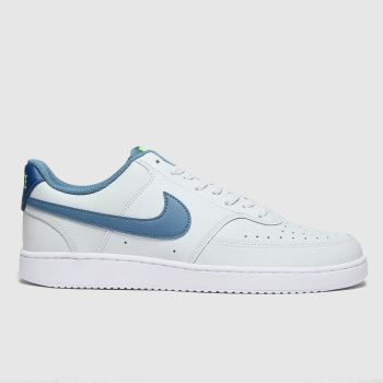 Nike Light Grey Court Vision Low Mens Trainers