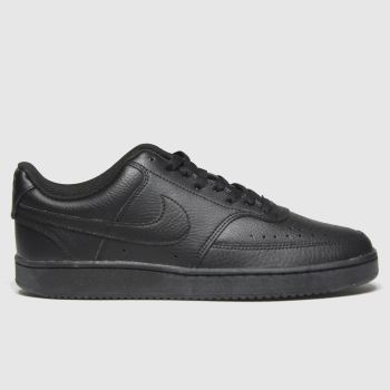 Nike Black Court Vision Low Mens Trainers#