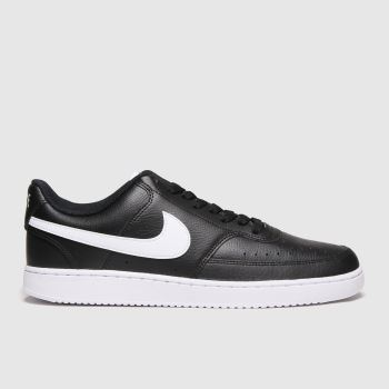 Nike Black & White Court Vision Low Mens Trainers