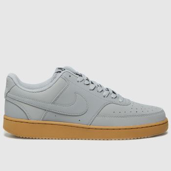 Nike grey court vision low trainers